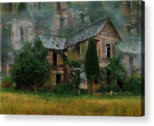 Abandoned House Acrylic Print featuring the photograph Faded Dreams by Julie Dant