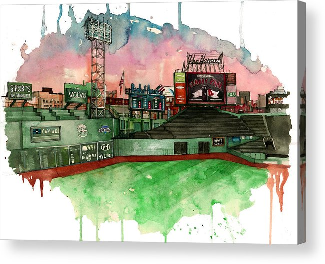 Fenway Park Acrylic Print featuring the painting Fenway Park by Michael Pattison