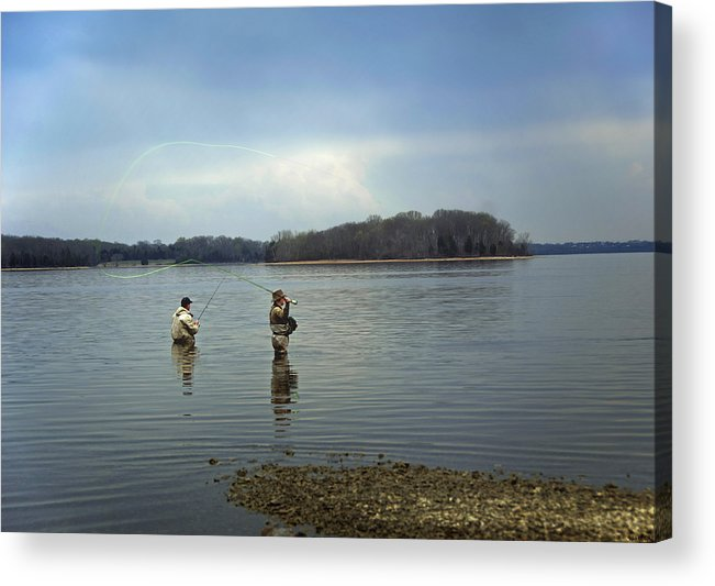 Fly Fishing Acrylic Print featuring the photograph Fly Fishing by Steven Michael