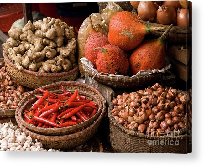 Basket Acrylic Print featuring the photograph Gac Fruit 01 by Rick Piper Photography
