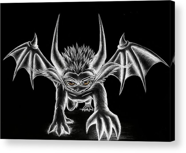 Demon Acrylic Print featuring the painting Grevil Chalk by Shawn Dall