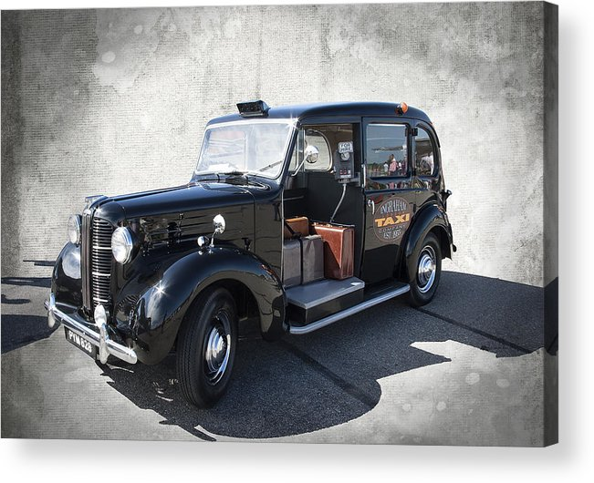 london Taxi Acrylic Print featuring the photograph Hackney Carriage Austin Fx3 Of London C. 1955 by Daniel Hagerman
