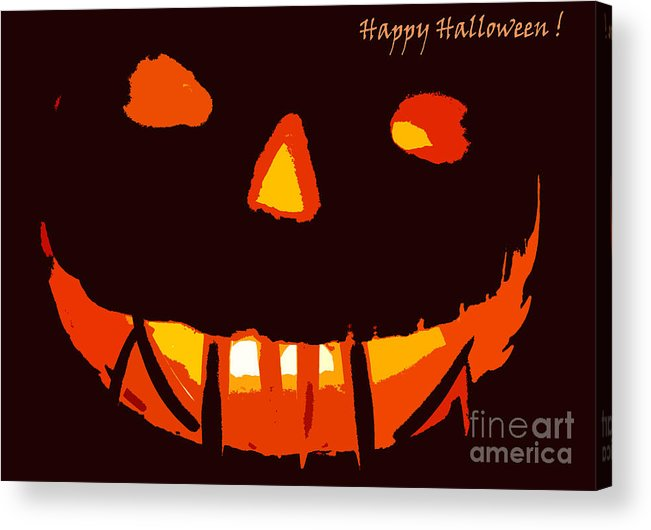 Halloween Acrylic Print featuring the photograph Happy Halloween by Eric Curtin