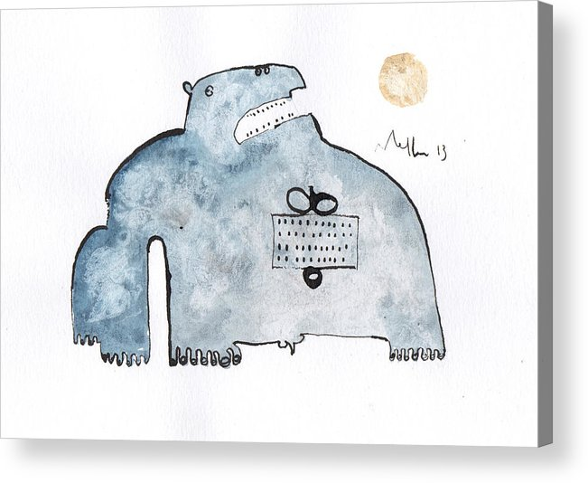 Watercolor Acrylic Print featuring the painting Instar No.3 by Mark M Mellon