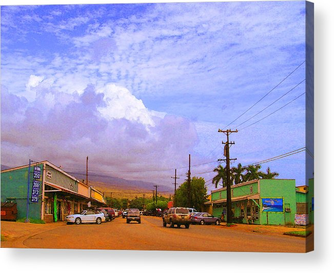 Kaunakakai Acrylic Print featuring the photograph Main Street Kaunakakai by James Temple