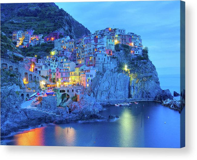 Scenics Acrylic Print featuring the photograph Manarola by M Swiet Productions