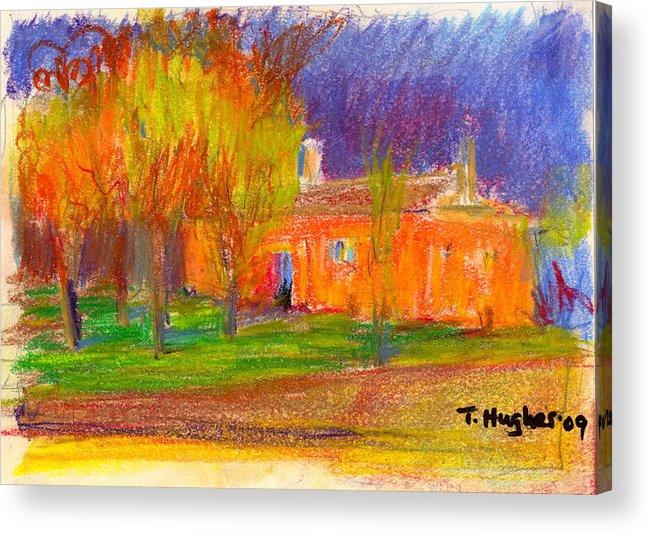 Orange Acrylic Print featuring the painting Orange House by Thomas Hughes
