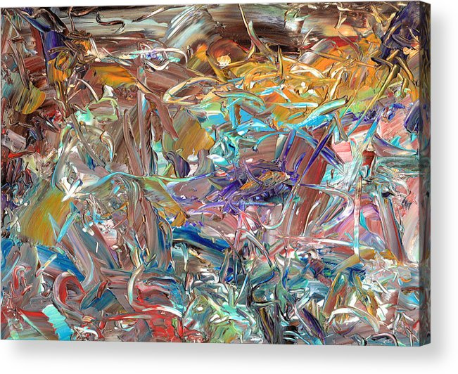 Abstract Acrylic Print featuring the painting Paint Number46 by James W Johnson
