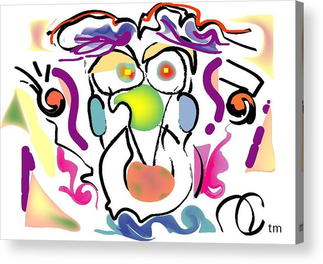Life's Crazy Acrylic Print featuring the digital art Persnickity by Andy Cordan