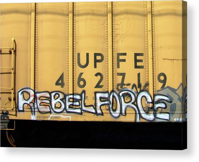 Graffiti Acrylic Print featuring the photograph Rebel Force by Donna Blackhall