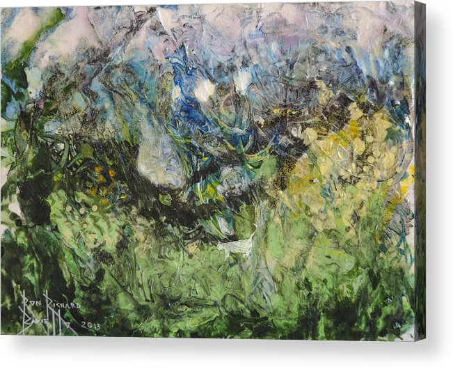 Abstract Acrylic Print featuring the painting Somewhere by Ron Richard Baviello