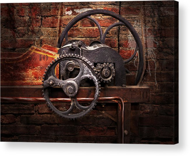 Hdr Acrylic Print featuring the digital art Steampunk - No 10 by Mike Savad