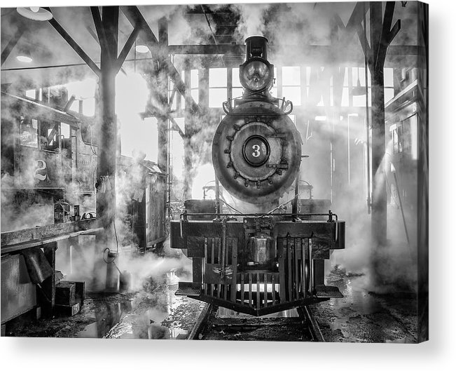 Railtown State Park Acrylic Print featuring the photograph Steamy by Kevin Reilly