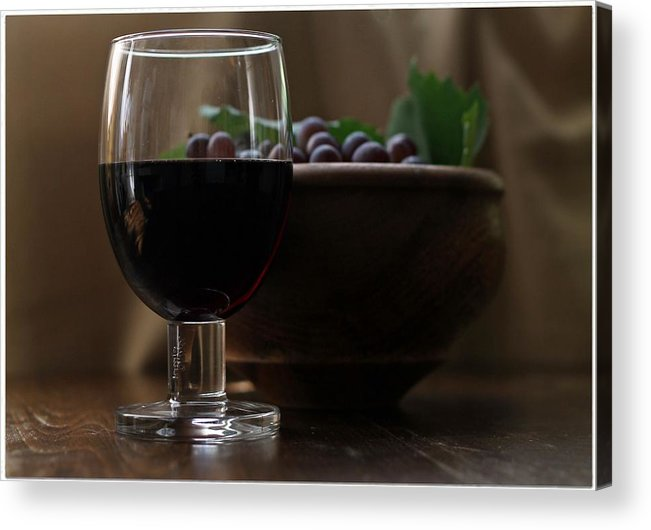 Wine Acrylic Print featuring the photograph Still Life With Wine Swv1 by Petko Pemaro
