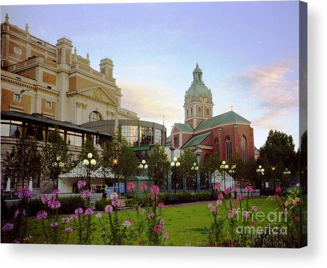 Sweden Acrylic Print featuring the photograph Stockholm City Sun Rise by Ted Pollard