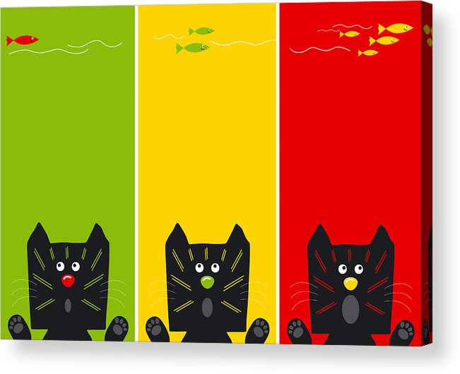 Acrylic Print featuring the digital art Cat by Natee Srisuk
