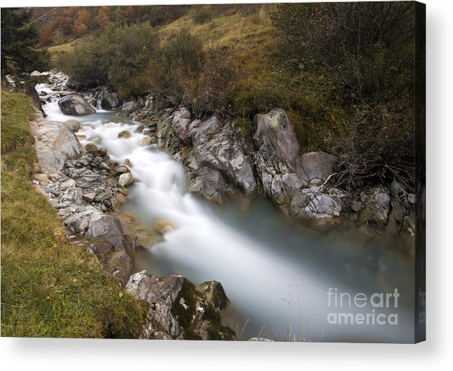 Soft Acrylic Print featuring the photograph Clear Water by Angel Ciesniarska