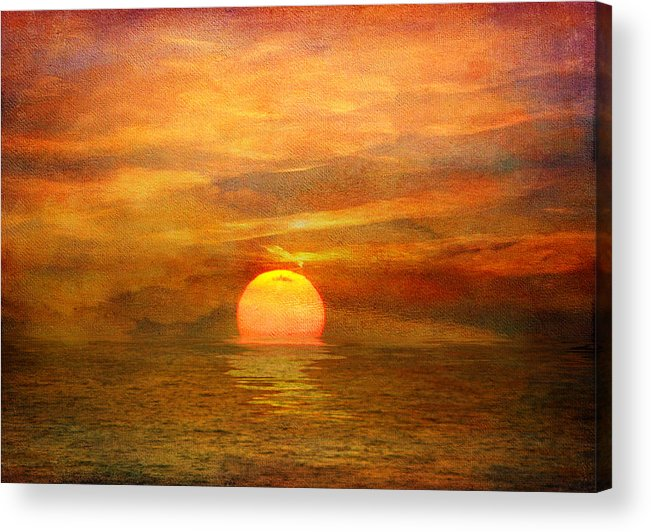 Sunset Acrylic Print featuring the photograph Fading Light by Stephen Warren