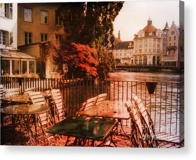 Lucerne Acrylic Print featuring the photograph Fall In Lucerne Switzerland by Susanne Van Hulst