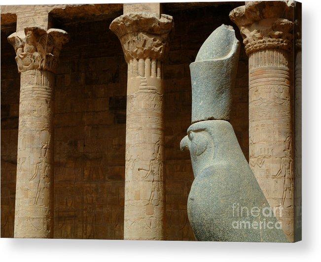 Horus Acrylic Print featuring the photograph Horus Temple Of Edfu Egypt by Bob Christopher