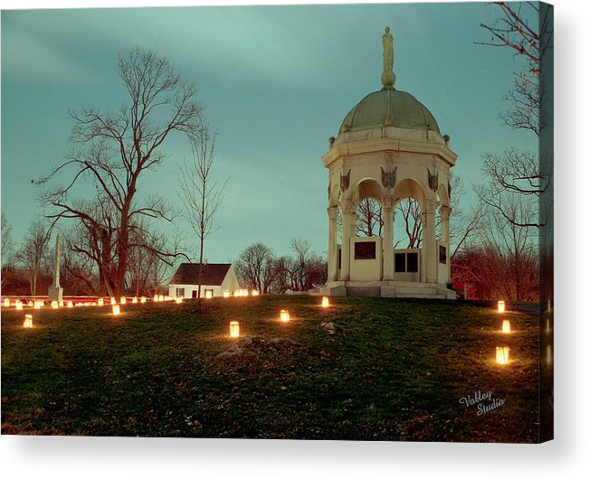 Antietam Battlefield Acrylic Print featuring the photograph Md. Monument And Dunker Church 11 by Judi Quelland