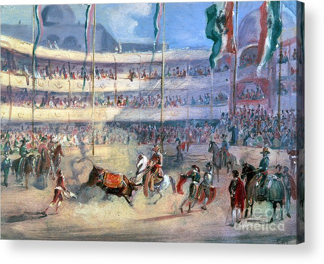 1833 Acrylic Print featuring the photograph Mexico: Bullfight, 1833 by Granger