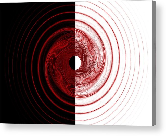 Fractal Acrylic Print featuring the digital art Target by Betsy Knapp