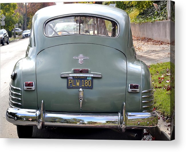 Vintage Chrysler Automobile Acrylic Print featuring the photograph The End Of Chrysler by Fraida Gutovich