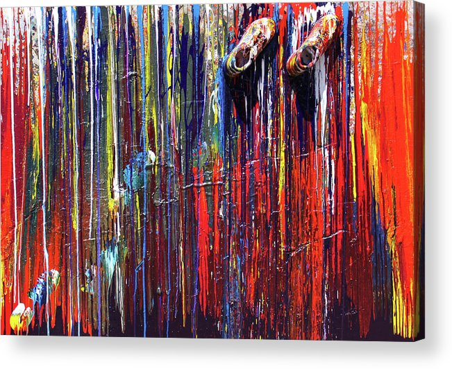 Fusionart Acrylic Print featuring the painting Climbing The Wall by Ralph White