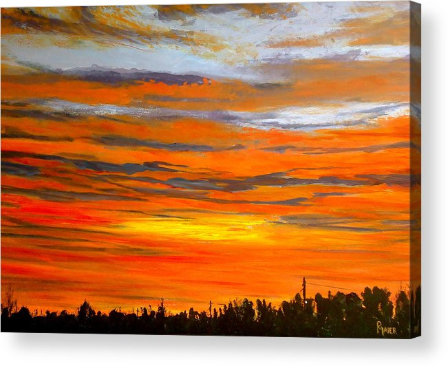 Sunrise Acrylic Print featuring the painting Mornin by Pete Maier