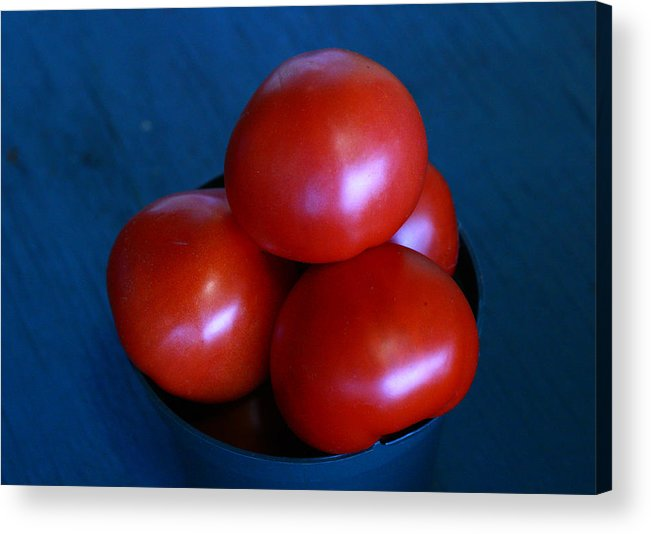 Tomato Acrylic Print featuring the photograph 209 Tomatoes by David Houston