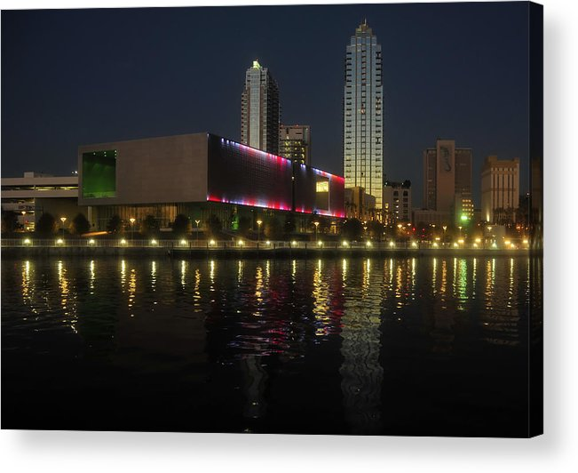 Tampa Museum Of Art Acrylic Print featuring the photograph A Night At The Museum by David Lee Thompson