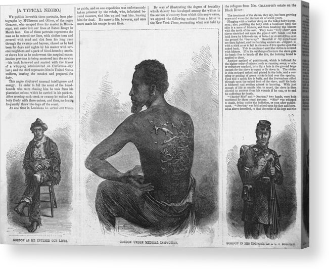 History Acrylic Print featuring the photograph An African American Runaway Slave Named by Everett