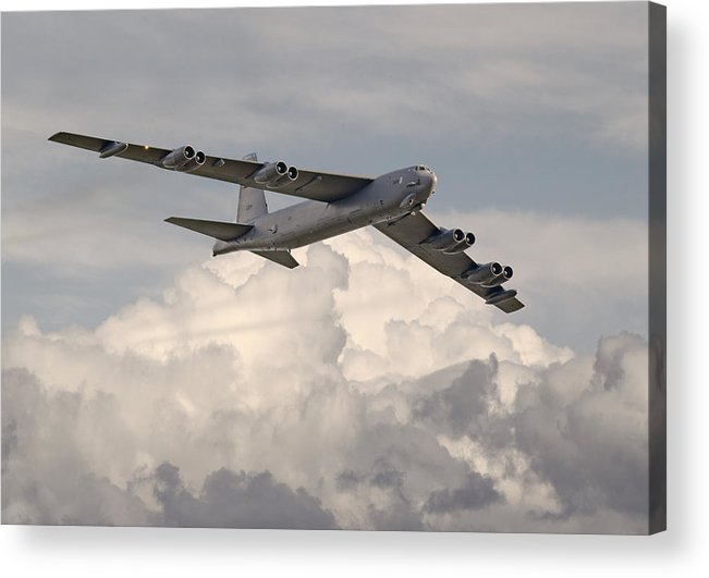 Aircraft Acrylic Print featuring the photograph B52-h by Pat Speirs