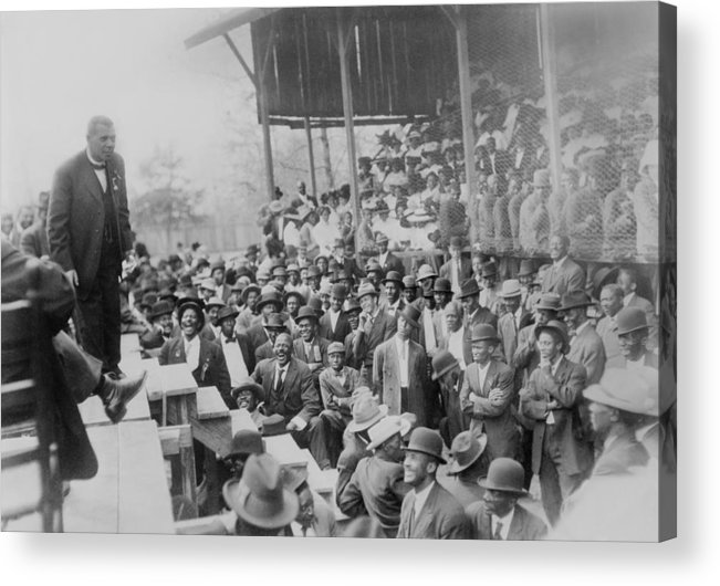 History Acrylic Print featuring the photograph Booker T. Washington Addressing by Everett