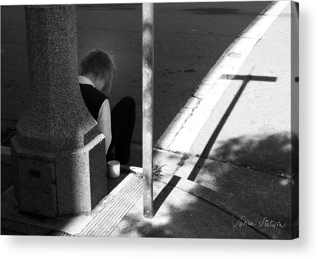 Cross Acrylic Print featuring the photograph Break Time by Sabine Stetson