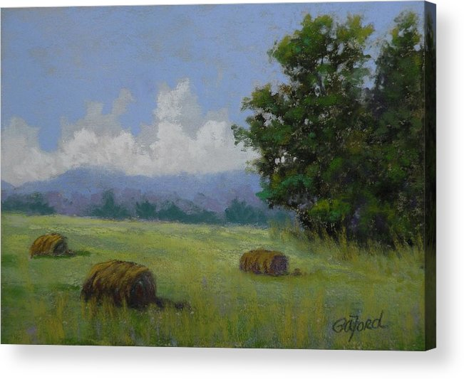 Pastel Acrylic Print featuring the painting Brewing by Paula Ann Ford