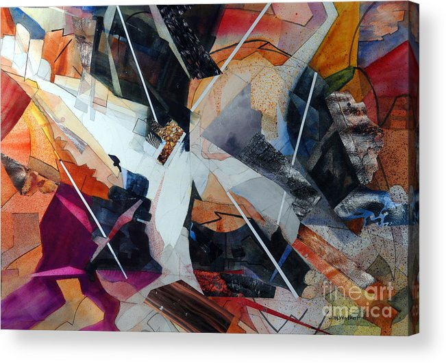 Abstract Acrylic Print featuring the painting Centerfold I by John W Walker