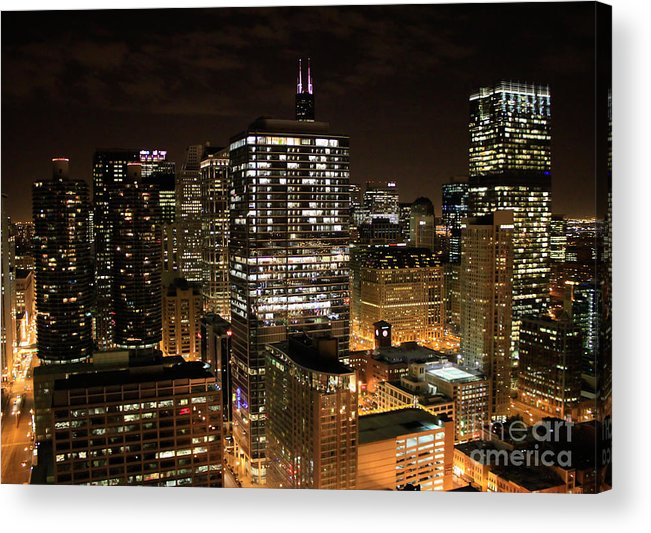 Chicago Acrylic Print featuring the photograph Chicago Times by Ryan Ware