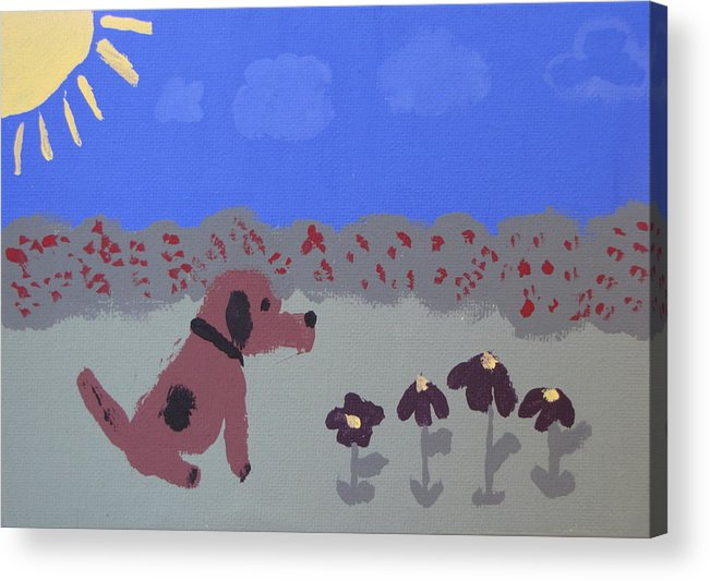 Acrylic Acrylic Print featuring the painting Childlike Imagination by Melissa Parks