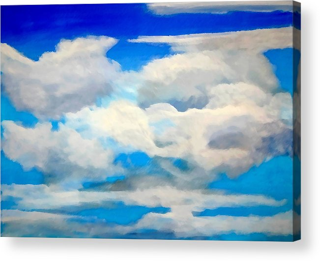 En Plein Air Acrylic Print featuring the painting Cloud Study by Donna Proctor
