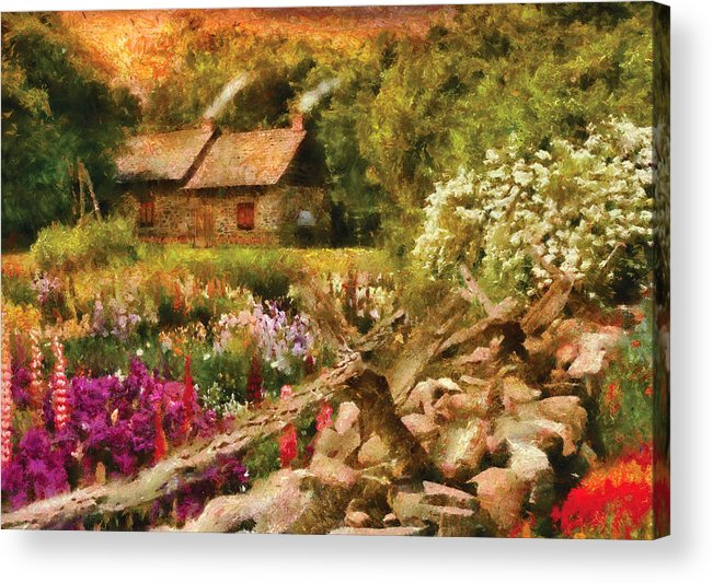 Savad Acrylic Print featuring the photograph Cottage - There's No Place Like Home by Mike Savad