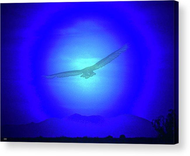 Desert Nights Acrylic Print featuring the digital art Desert Nights by Debra   Vatalaro