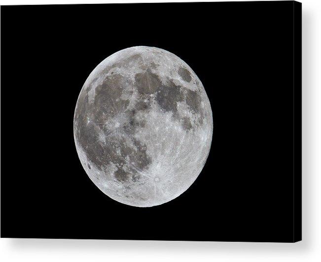 Moon Acrylic Print featuring the photograph Full Moon 2 by Bob Kemp