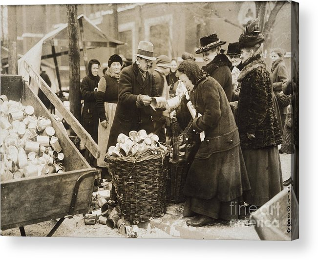 1923 Acrylic Print featuring the photograph Germany: Inflation, 1923 by Granger