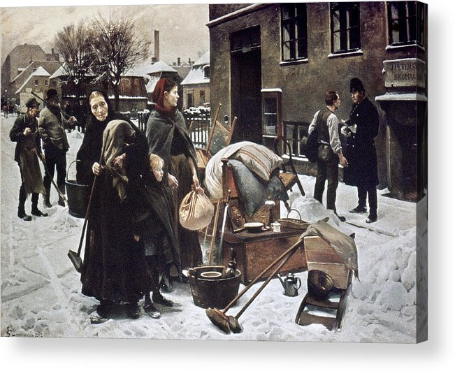 1890 Acrylic Print featuring the photograph Henningsen Evicted 1890 by Granger