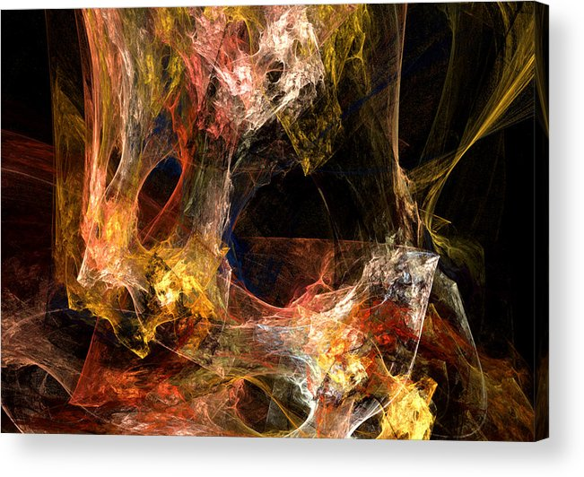 Abstract Acrylic Print featuring the digital art Holes by Ruth Palmer