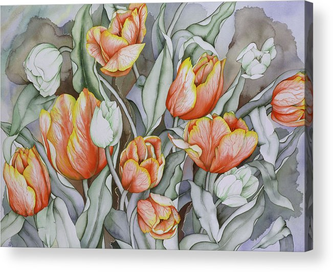 Flowers Acrylic Print featuring the painting Home Sweet Home 2 by Liduine Bekman