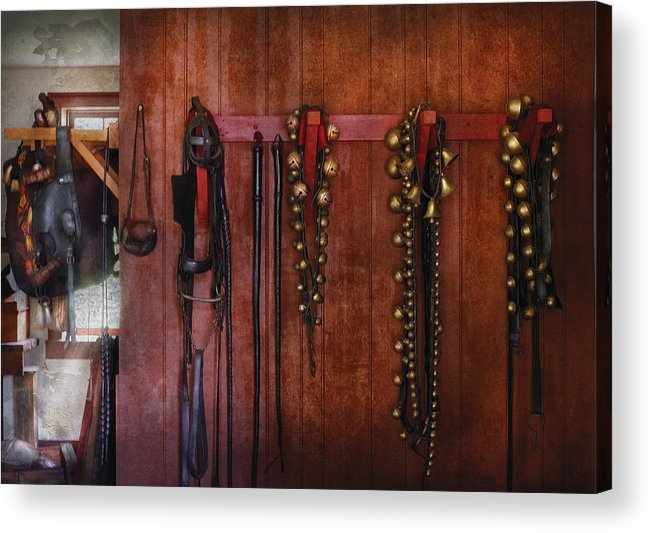 Savad Acrylic Print featuring the photograph Horse Trainer - Jingle Bells by Mike Savad
