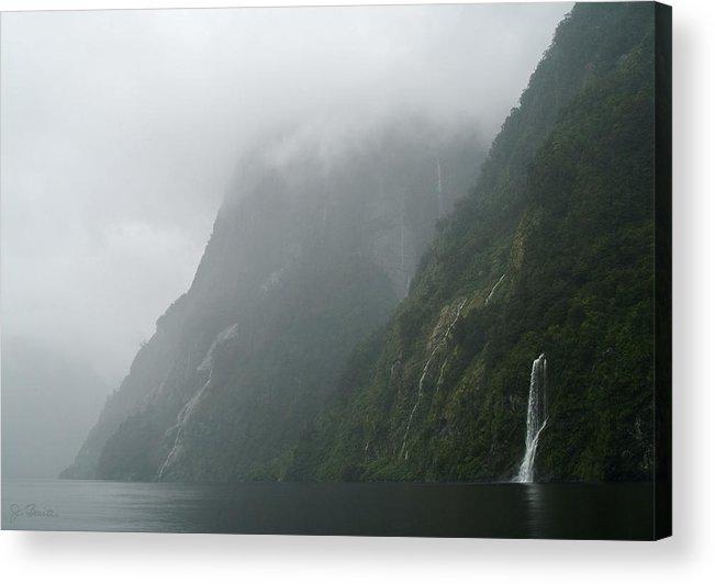 New Zealand Acrylic Print featuring the photograph Into The Mist by Joe Bonita